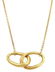 Tiffany & Co. Tiffany Co. Peretti Double Loop Pendant Necklace In 18k Yellow Gold