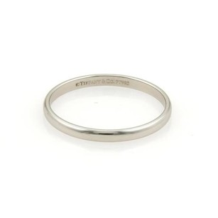 Tiffany & Co. Tiffany Co. Platinum 2mm Wide Plain Dome Wedding Ring 8.75