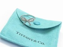 Tiffany & Co. Tiffany Co Platinum Diamond Bow Ring .10ct