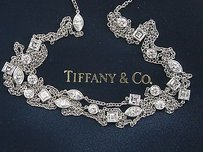 Tiffany & Co. Tiffany Co Platinum Multi Shape Diamond Swing 3-row Necklace 16 3.65ct