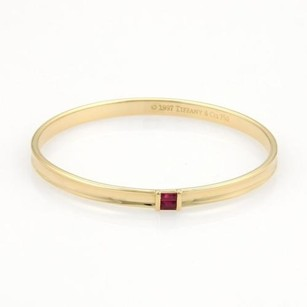 Tiffany & Co. Tiffany Co. Rubies 18k Yellow Gold 4.5mm Wide Bange 6.5