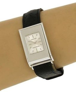 Tiffany & Co. Tiffany Co Schlumberger 18k White Gold Wrist Watch Original Band