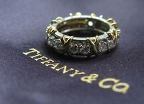 Tiffany & Co. Tiffany Co Schlumberger Plat 18kt Eternity Band Sz 6