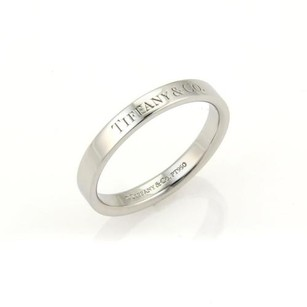 Tiffany & Co. Tiffany Co. Signature Logo Platinum 3mm Band Ring -size