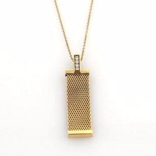 Tiffany & Co. Tiffany Co. Somerset Diamonds 18k Yellow Gold Mesh Long Pendant Necklace