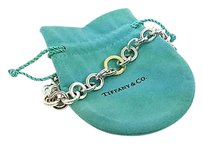 Tiffany & Co. Tiffany Co. Sterling Silver 18k Yellow Gold Ladies Circle Link Chain Necklace