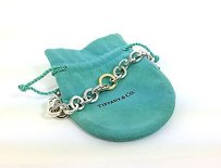 Tiffany & Co. Tiffany Co. Sterling Silver 18k Yellow Gold Ladies Hoop Link Chain Necklace