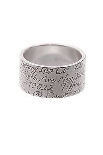 Tiffany & Co. Tiffany Co. Sterling Silver Notes Wide Band Ring Size 6.5