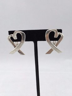 Tiffany & Co. Tiffany Co. W Paloma Picasso 925 Sterling Silver Loving Heart Earrings
