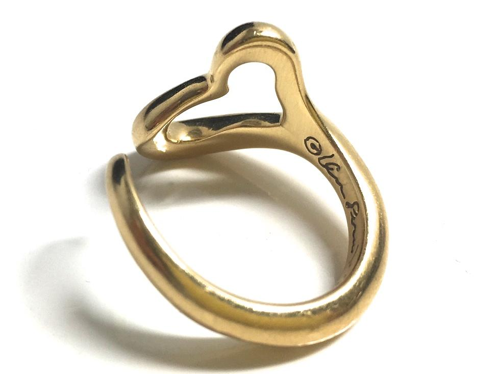 Tiffany & Co Gold Elsa Peretti 18k Yellow Open Heart 6 Ring Tradesy
