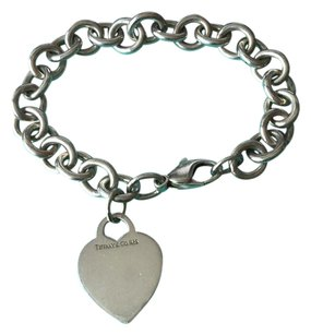 Tiffany & Co. Tiffany Silver Classic Heart Tag Link 7.5