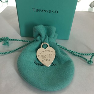 Tiffany & Co. Tiffany Silver Large Heart Dog Tag Charm Pendant