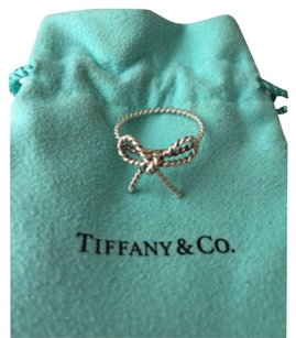 Tiffany & Co. Tiffany Silver Rope Twist Bow Ring