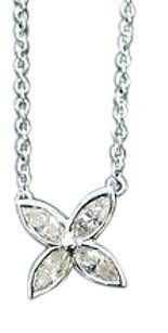 Tiffany & Co. Tiffany Co Platinum Victoria Marquise Diamond Pendant Necklace 0.25ct