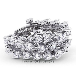 Tiffany Jones Designs 15 Ct Tw G-si1 Exc Round Natural Diamonds 18k 3-prong Womens Bracelet 21.15gr