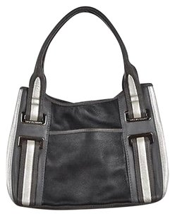 Tignanello Womens Leather Handbag Satchel in Black