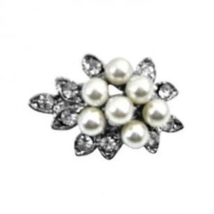 Tiny Bouquet Pearls Dainty Affordable Beautiful Cheap Brooch Pin Gift