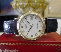 Tissot Mens Tissot 1853 Automatic 18k Yellow Gold Dress Watch On Leather Strap