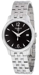 Tissot T-Classic Tradition Black Dial Stainless Steel Ladies Watch