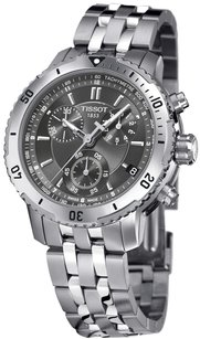 Tissot Tissot Men's T067.417.11.051.00 Silver Stainless-Steel Quartz Watch with Black Dial