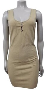 Tocca short dress Beige Khaki Sleeveless Knit on Tradesy