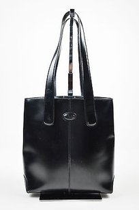 Tod's Tods Leather North Tote in Black