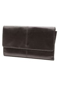 Tod's Leather Documents Travel Black Clutch