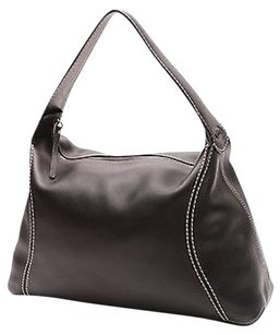 Tod's Leather Stitched Hobo Bag