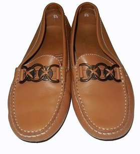 Tod's Tods Carmel Leather Brown Flats