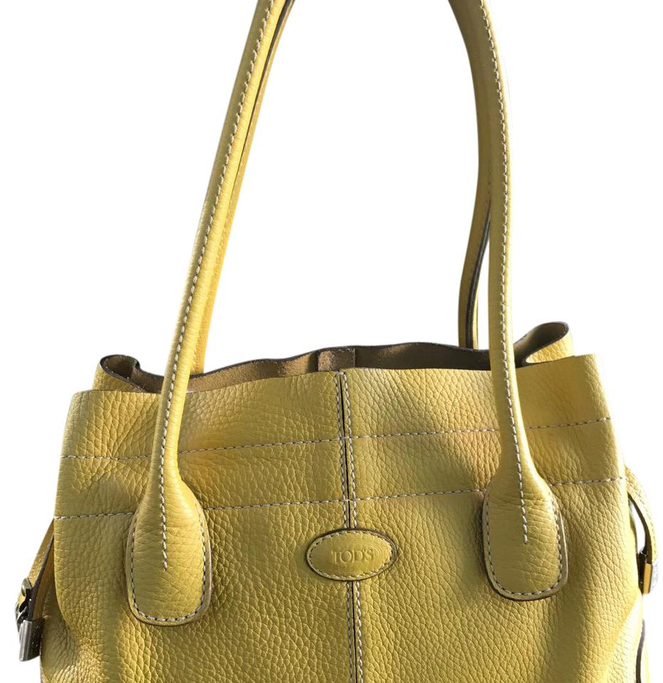 Tod's Leather tote with yellow details 9MuDk