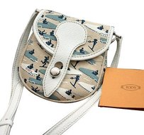 Tod's Signed Tods Canvas Cross Body Bag