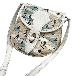 Tod's Signed Canvas Cross Body Bag