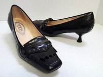 Tod's Tods Leather Studded Black Pumps