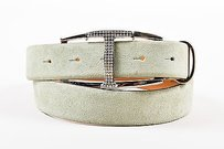 Tod's Tods Mint Green Suede Rhinestone Embellished T Belt 85