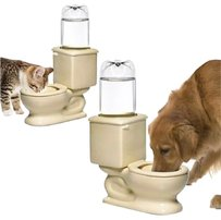 Toilet Dog Cat Ceramic Supplies Products Elevated Stand Bottle