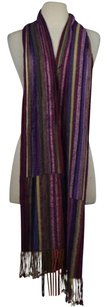 Tolani Tolani Womens Purple Color Block Scarf One Casual