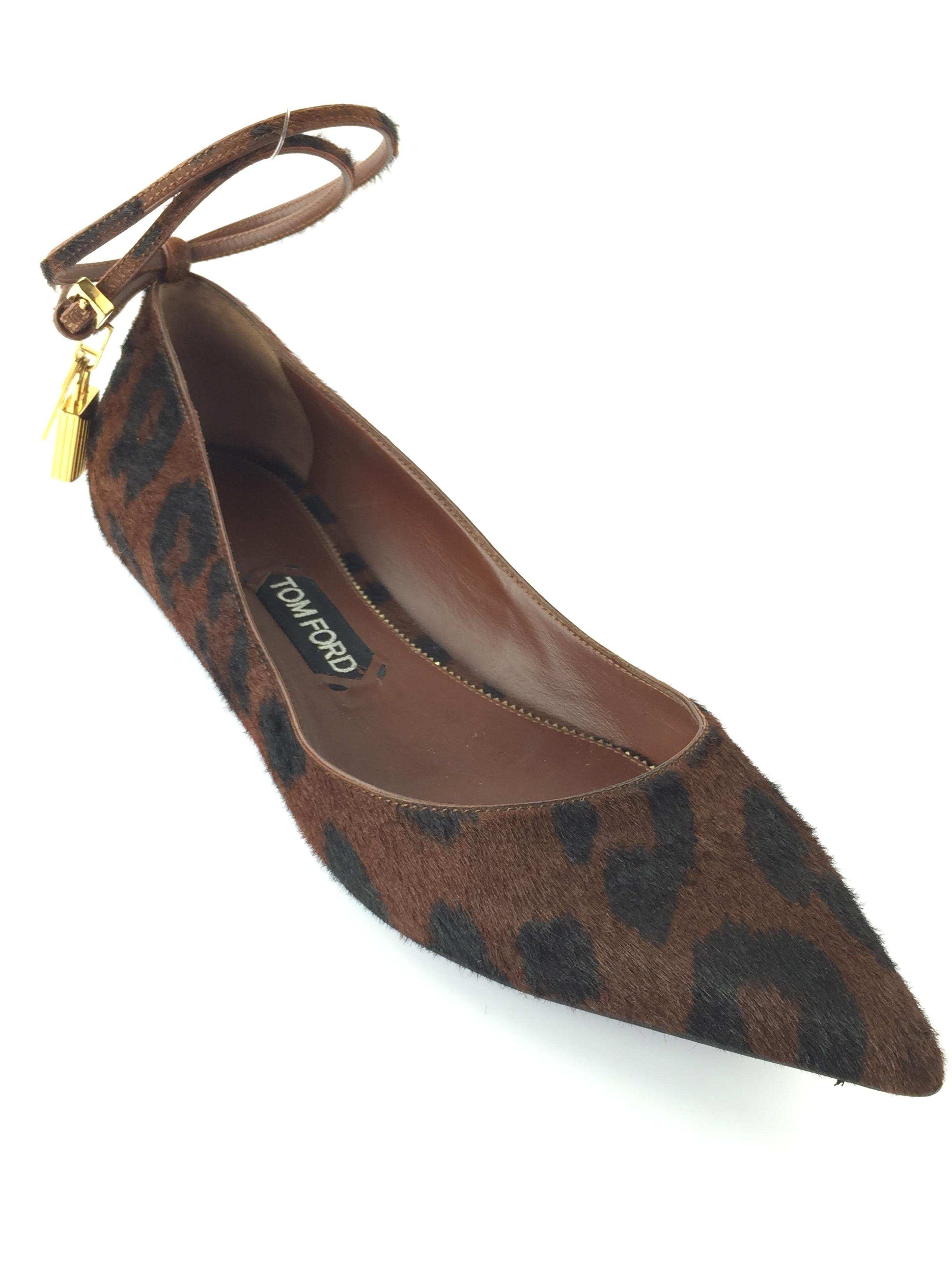 Tom Ford Brown and Skimmer Black Skimmer and Calf Hair Flats Size EU 41 (Approx. US 11) Regular (M, B) 612fe5