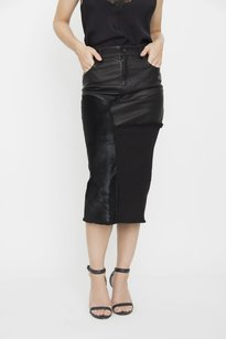 Tom Ford Patchwork Mixed Skirt Black