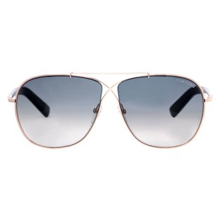 Tom Ford Tom Ford April Rose Gold Grey Gradient Unisex Aviator Sunglasses