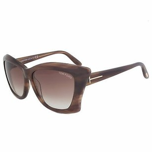 Tom Ford Tom Ford Lana Sunglasses Ft0280 50f Striped Brown Frame Brown Gradient Lens