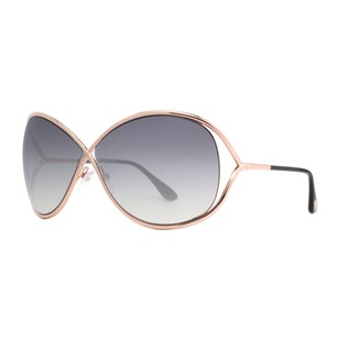 Tom Ford Tom Ford Miranda Rose Gold/Black Soft Square Sunglasses