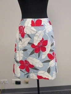 Tommy Bahama Blue Red Floral Skirt Multi-Color