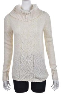 Tommy Bahama Womens Cowl Neck Cable Knit Cotton Sweater