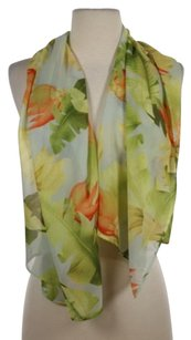 Tommy Bahama Tommy Bahama Womens Green Orange Floral Scarf Os