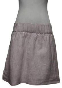 Tommy Hilfiger Womens White Striped 0 Linen Career Casual Skirt Purple