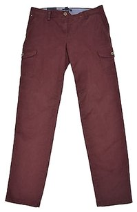 Tommy Hilfiger 61 44 Womens Cargo Pants Red