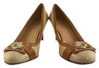 Tommy Hilfiger Kaira Womens Color Block Beige Pumps