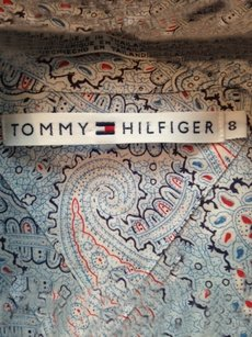 Tommy Hilfiger Floral Shirt Button Down Shirt navy blue