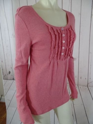 new Tommy Hilfiger Top Salmon Stretch Cotton Pullover Fine