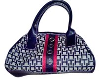 Tommy Hilfiger Small New Satchel in Red White & Black